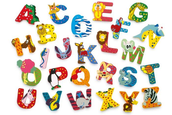 Legler Drevené písmeno E - Zvieratká