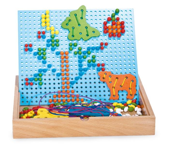 Small Foot Zatĺkacie a navliekacie puzzle