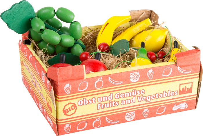 Small Foot Drevená krabica s ovocím