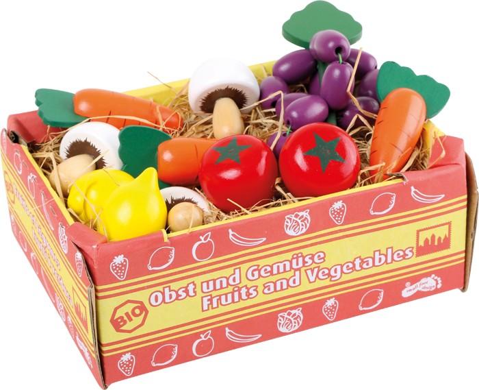 Small Foot Drevená krabica so zeleninou