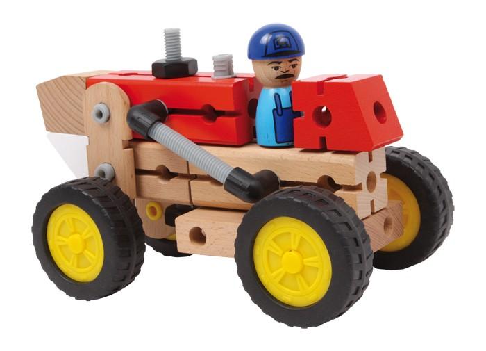 Drevená konštrukčná sada Traktor