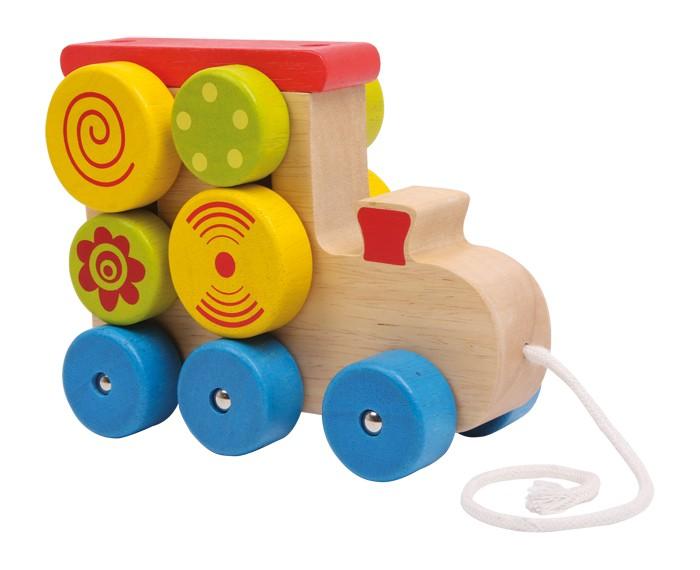 Small Foot Ťahacia hračka na povrázku - Lokomotíva