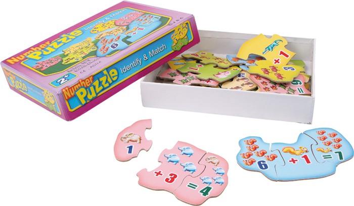 Small Foot Drevené hračky - Výpočtové puzzle