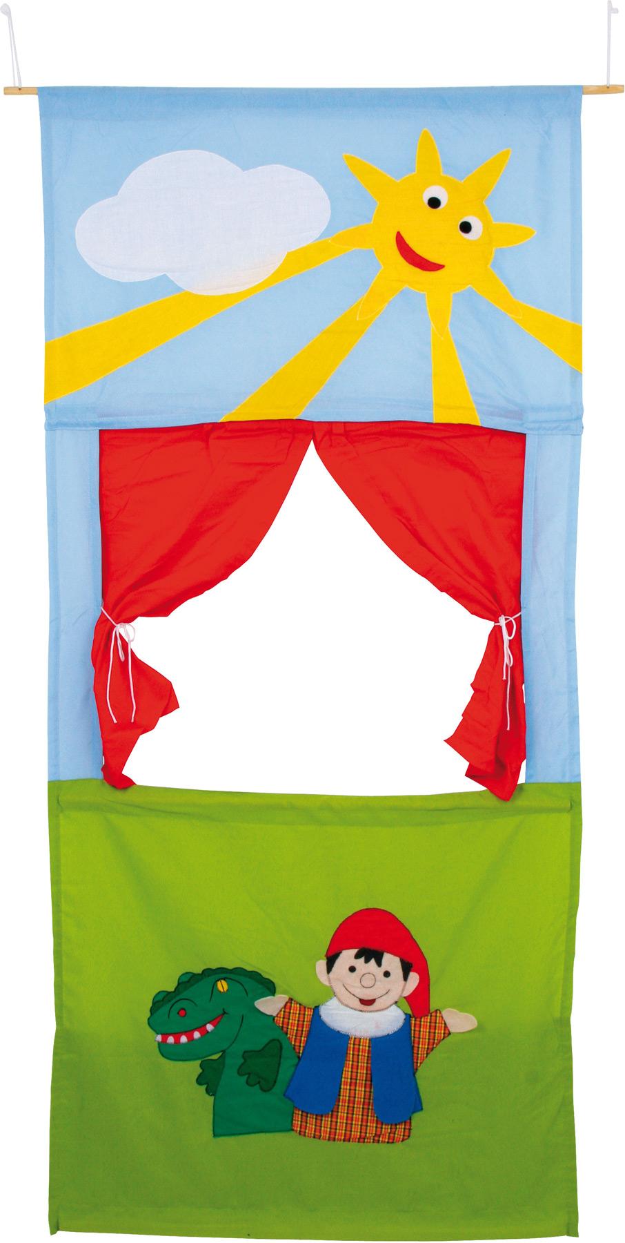 Small Foot Mobilné bábkové látkové divadlo