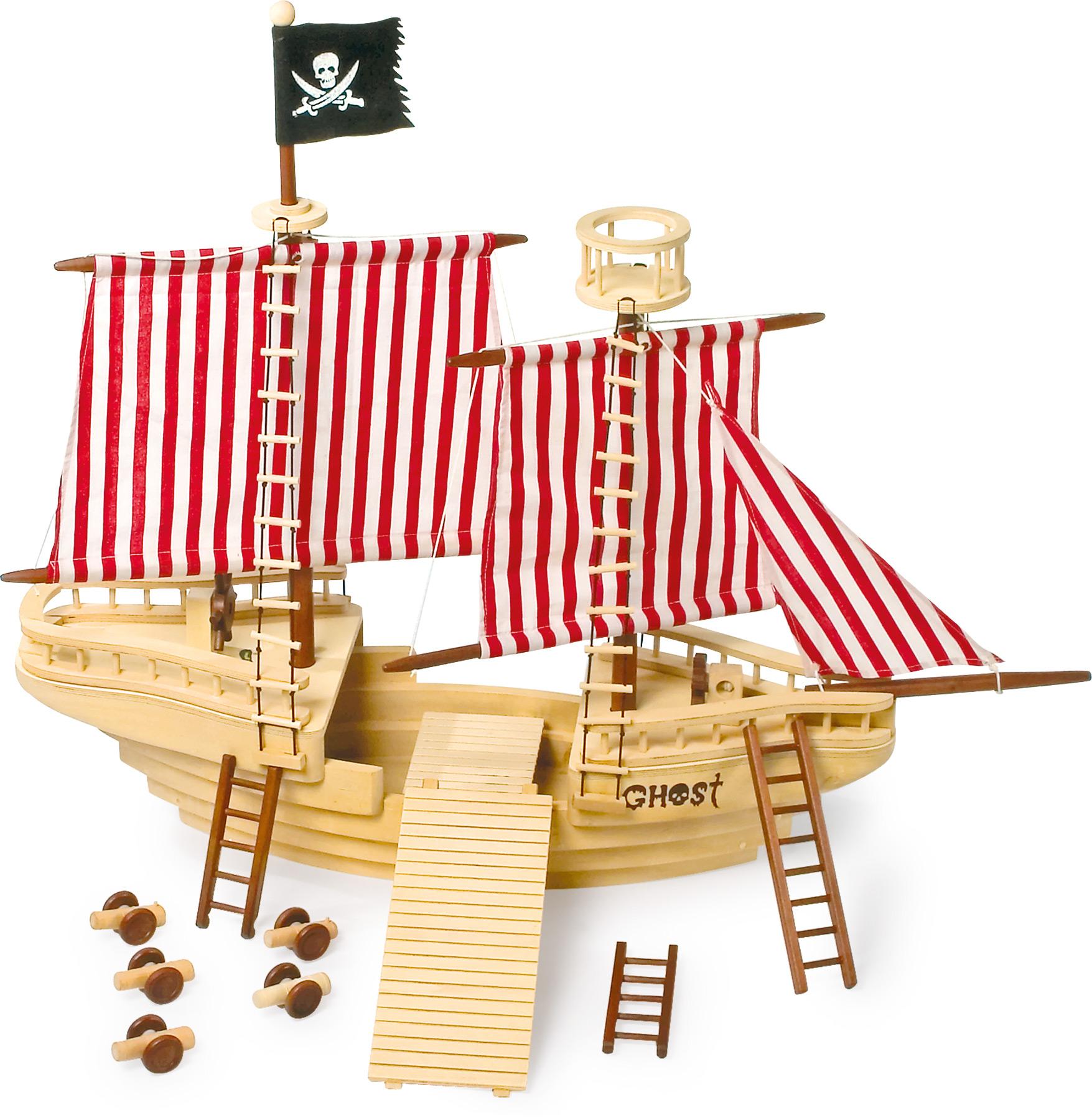 Small Foot Drevená pirátska loď