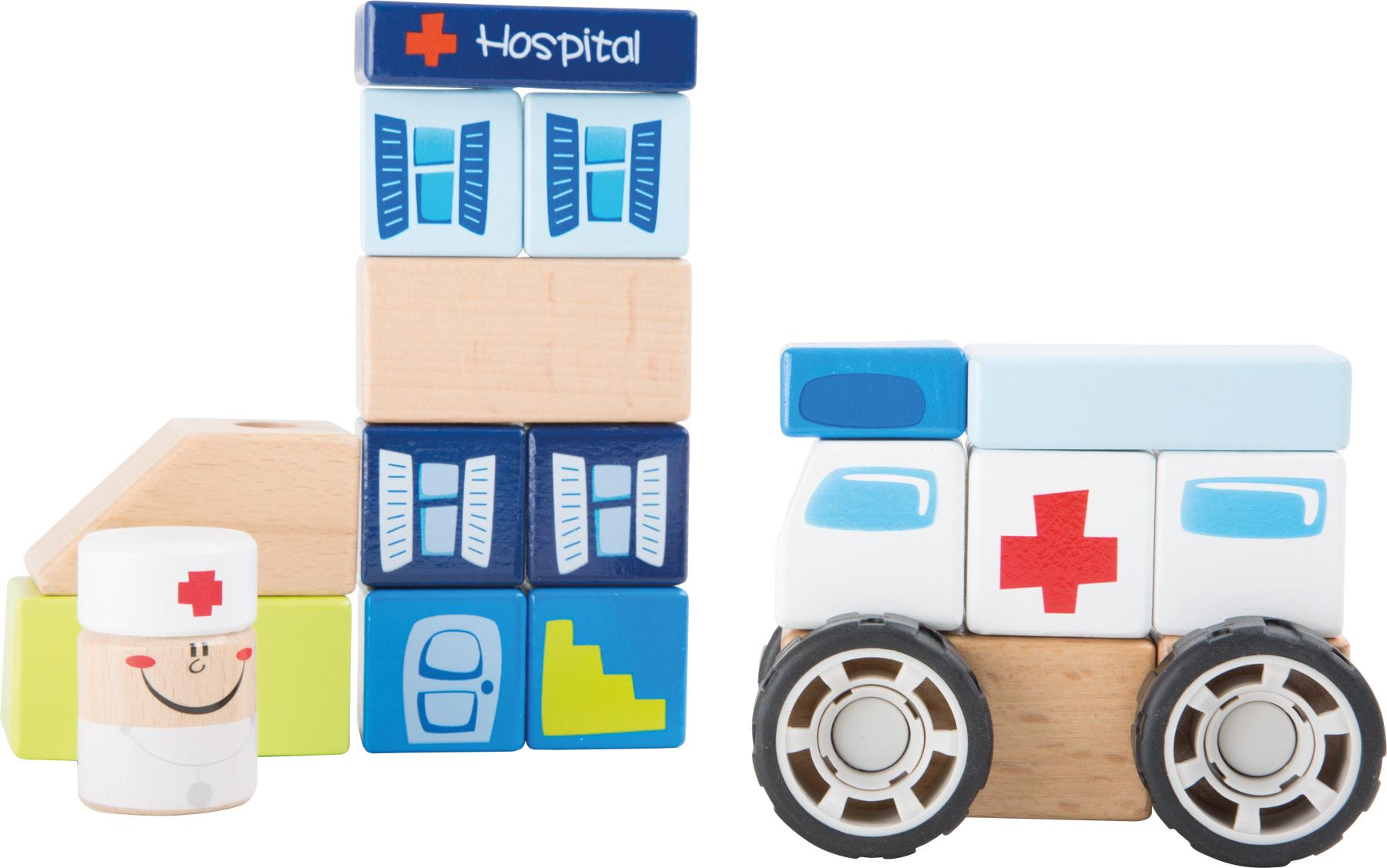 Small Foot Ambulancia konštrukčné auto