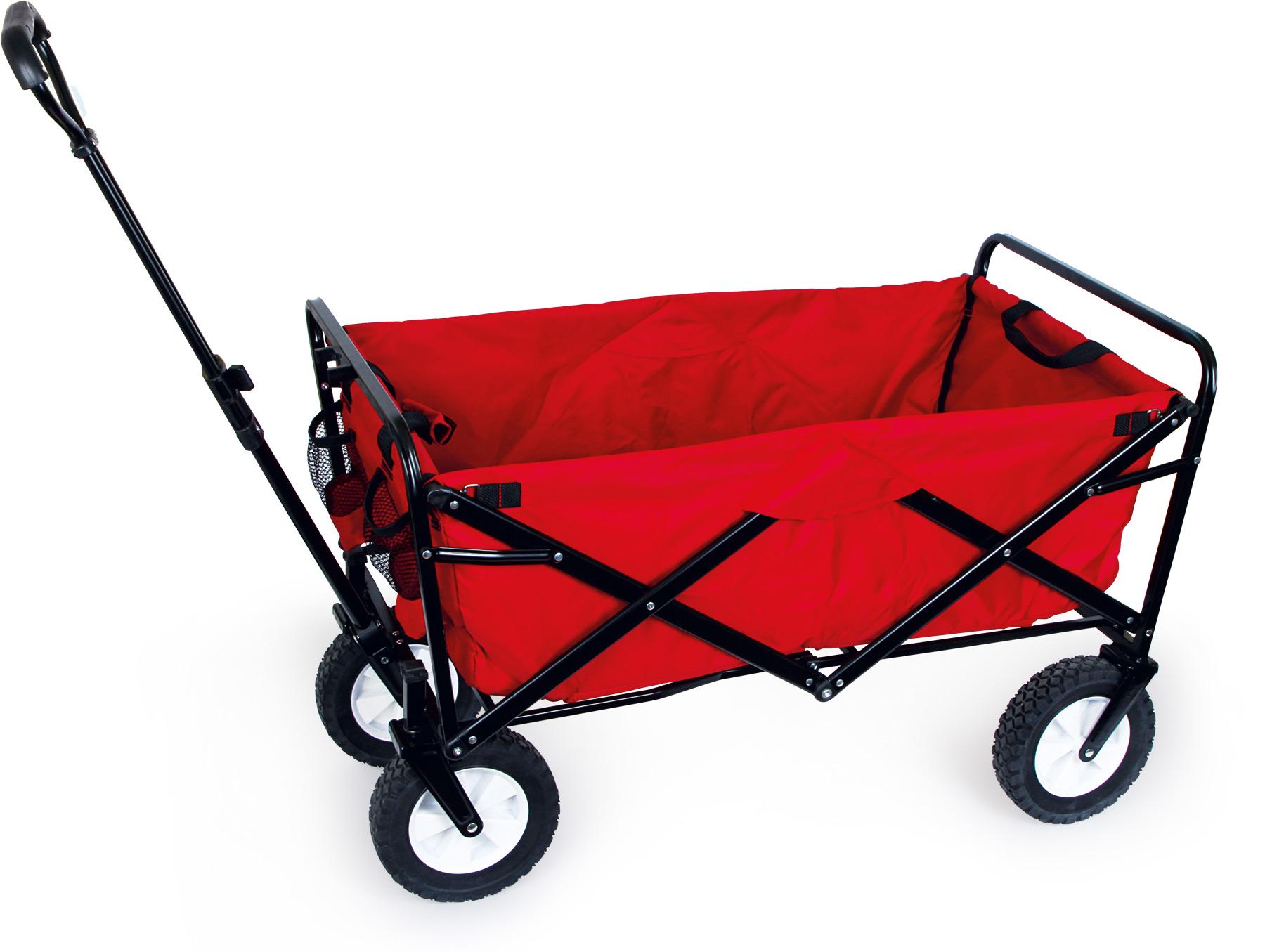 Small Foot Červený sklopný vozík