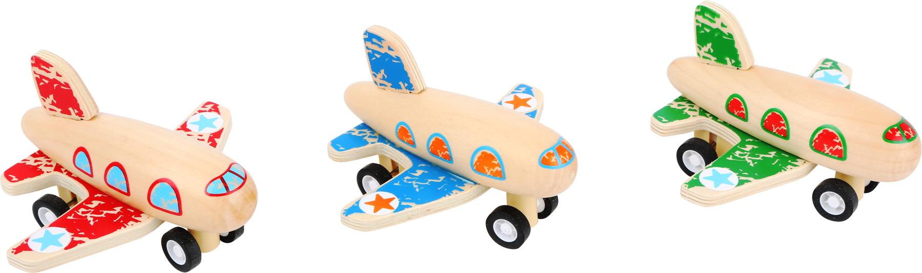 Small Foot Farebné lietadlo na naťahovanie
