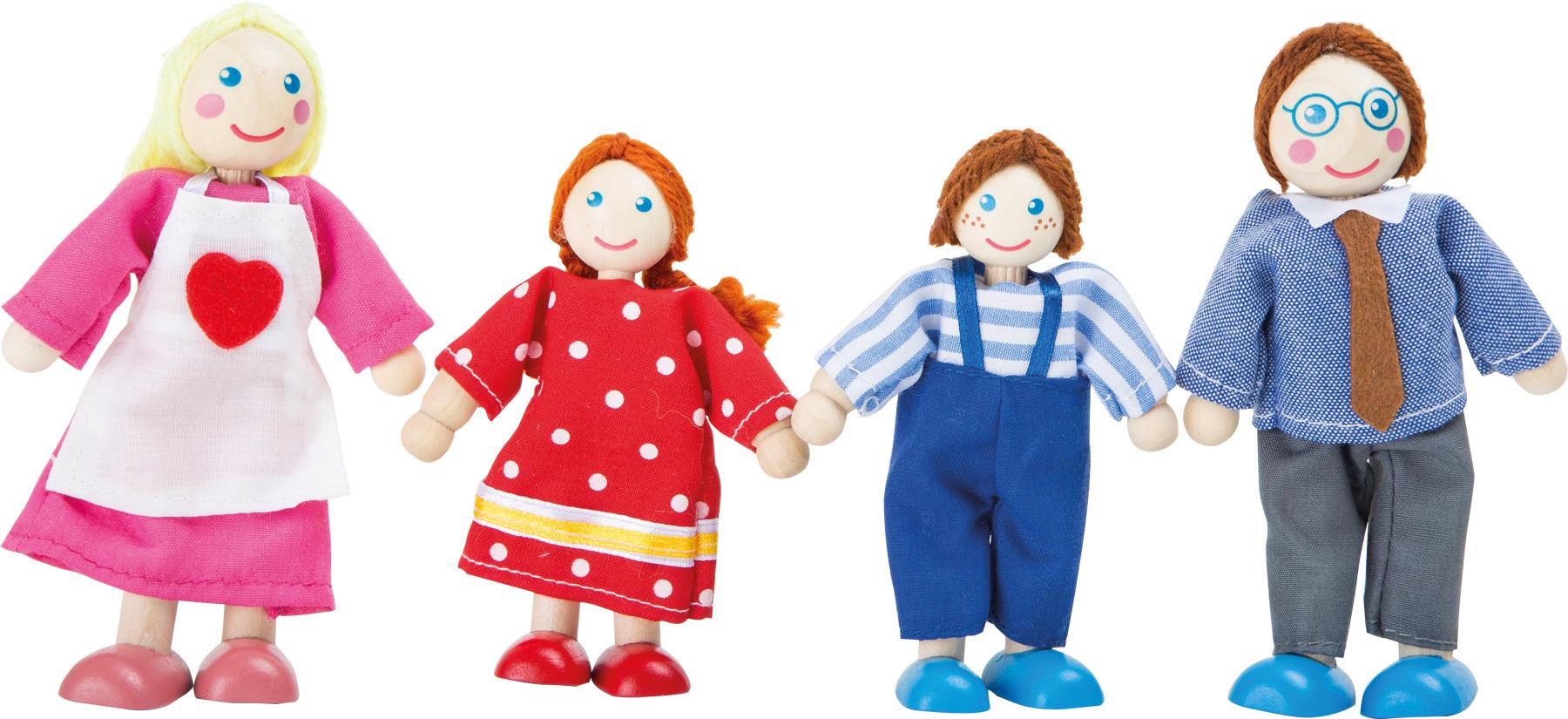Small Foot Drevené ohybné bábiky Rodina