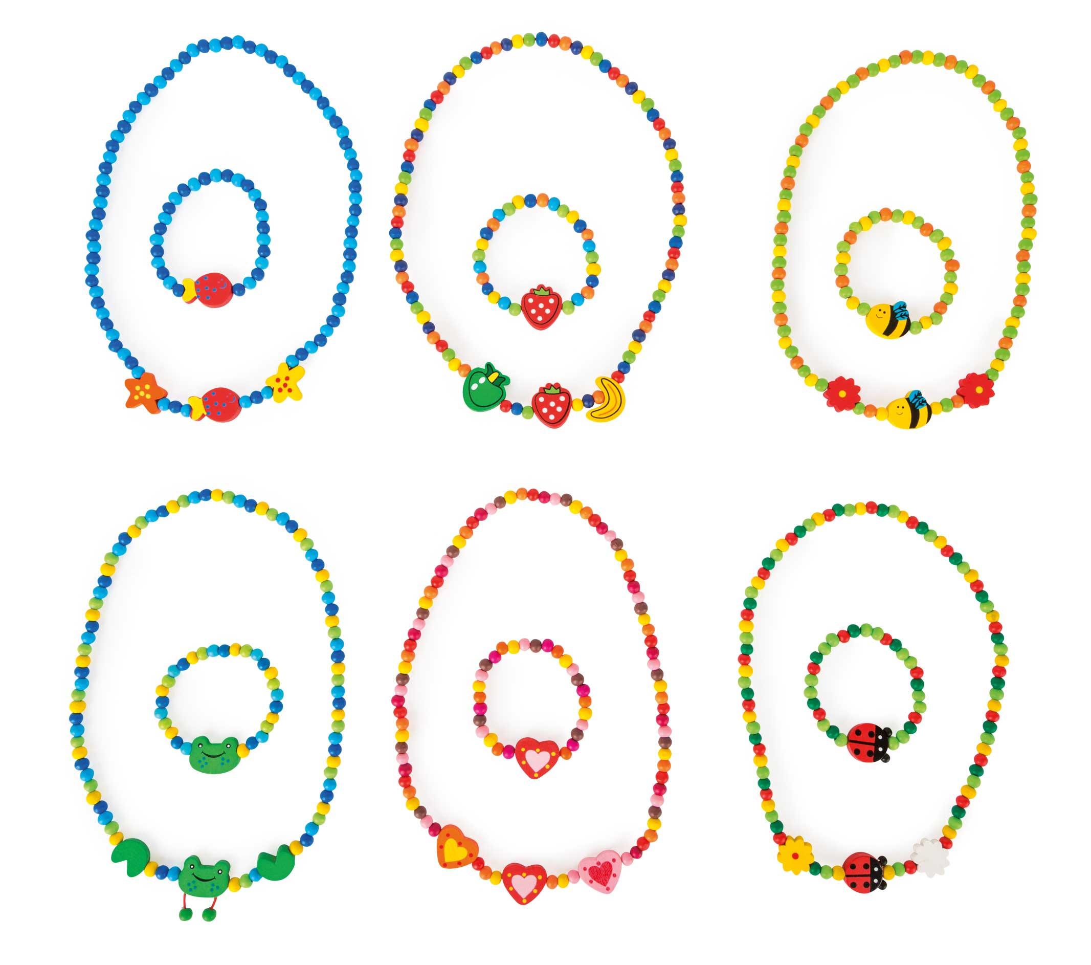 Farebný náhrdelník a náramok