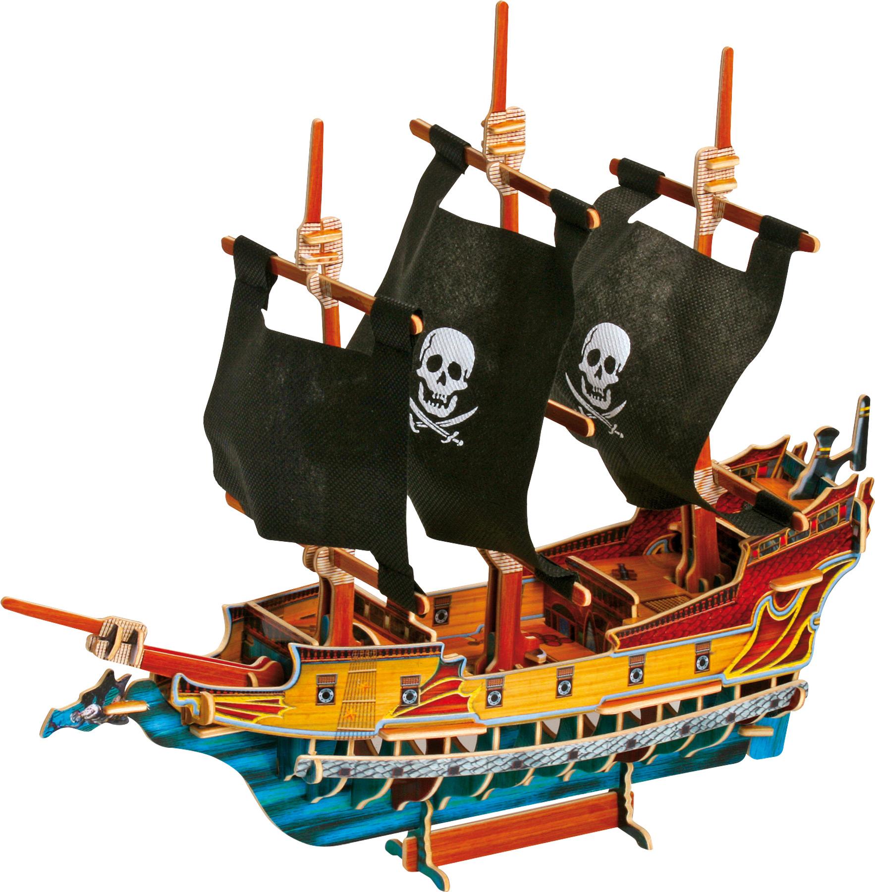 Small Foot Drevené 3D puzlle Pirátská loď