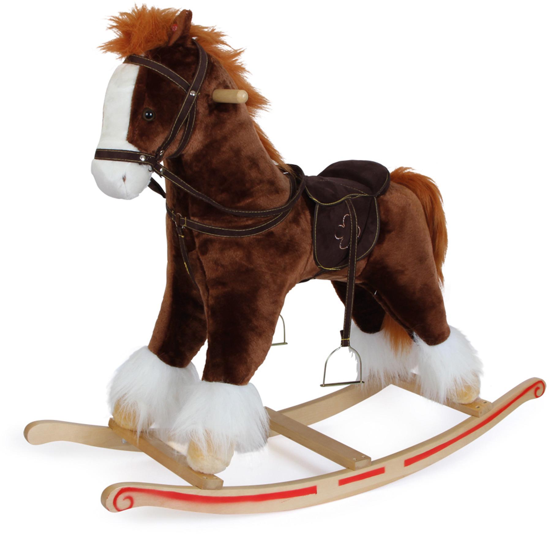 Small Foot Drevený hojdací kôň so zvukmi Blesk