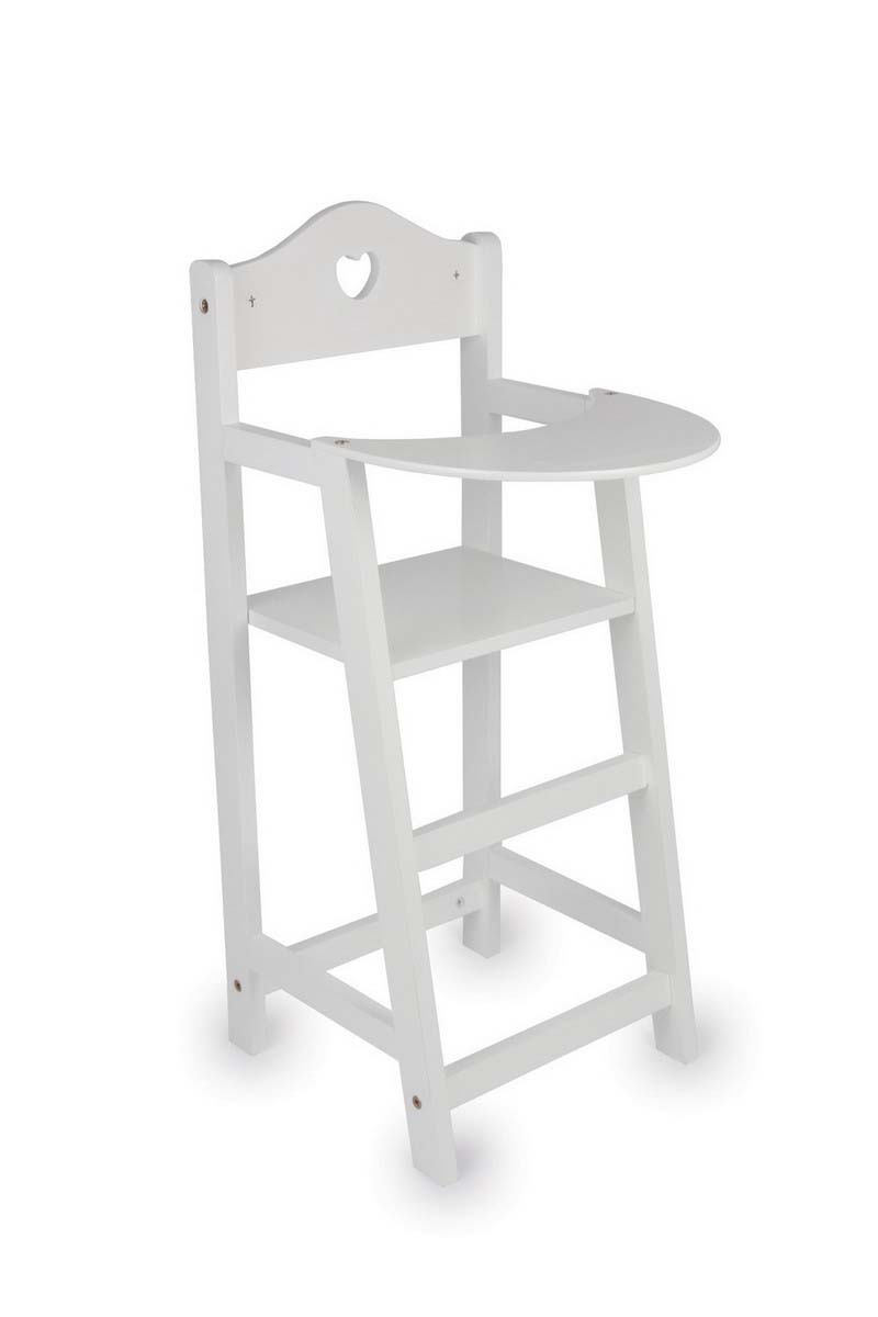 Small Foot Drevená stolička pre bábiky biela