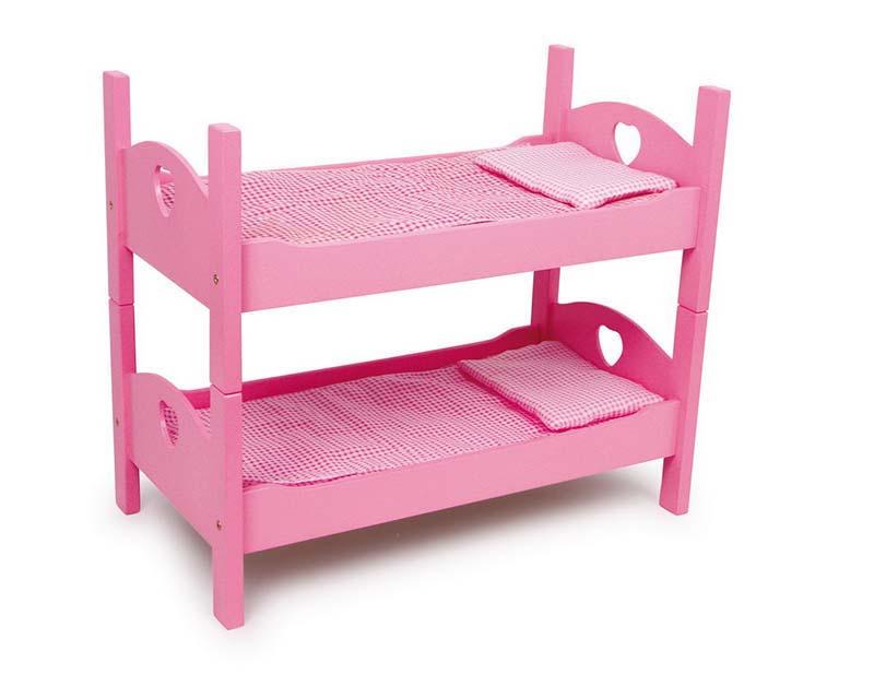 Small Foot Poschodová postieľka pre bábiky ružová