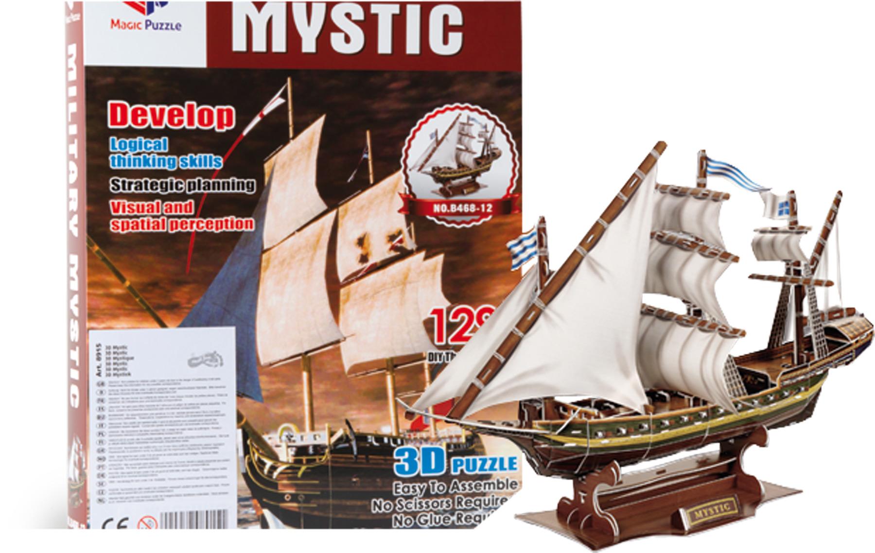 Small Foot 3D puzzle Historická plachetnica Mystic