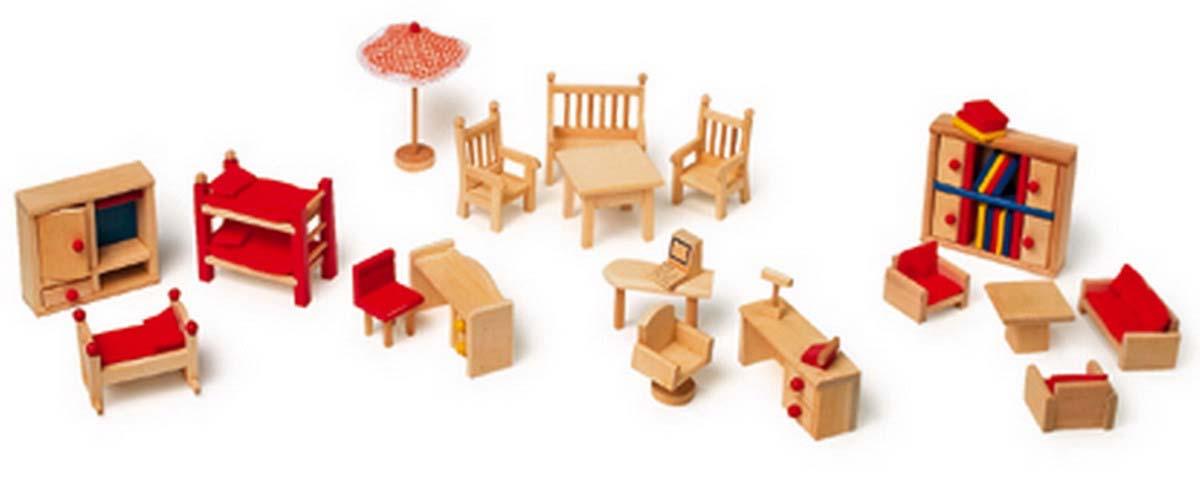 Small Foot Drevený nábytok pre bábiky - set