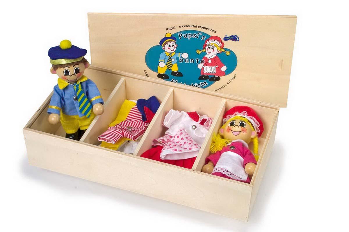 Small Foot Šatník pre bábiky + 2 bábiky