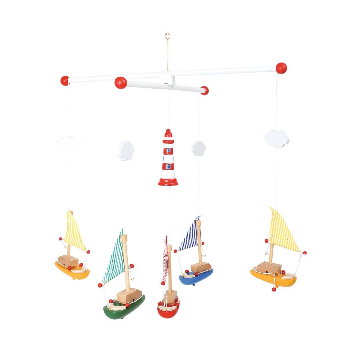 Small Foot Závesný kolotoč plachetnica s majákom