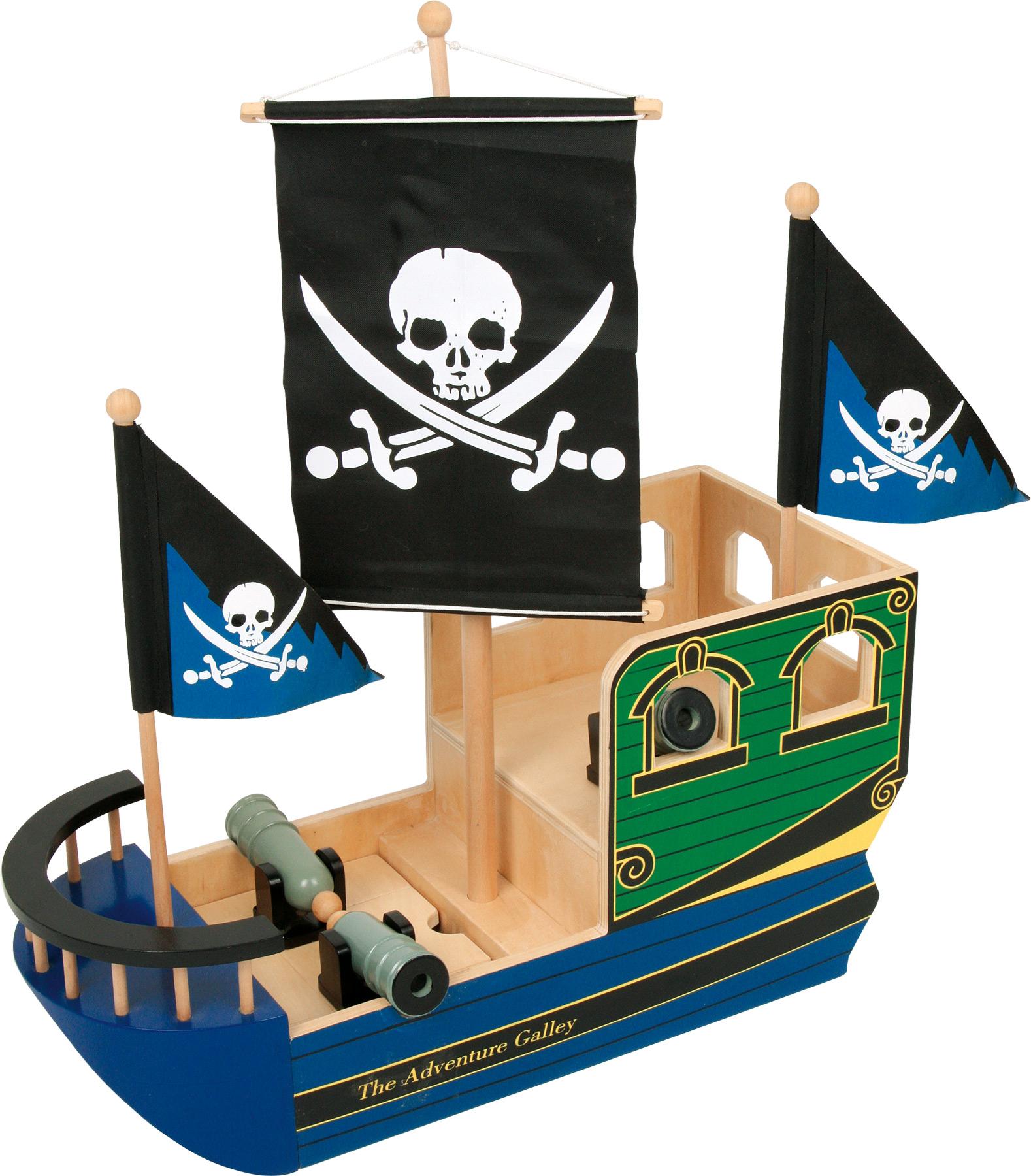 Small Foot Drevená pirátska loď Lebka