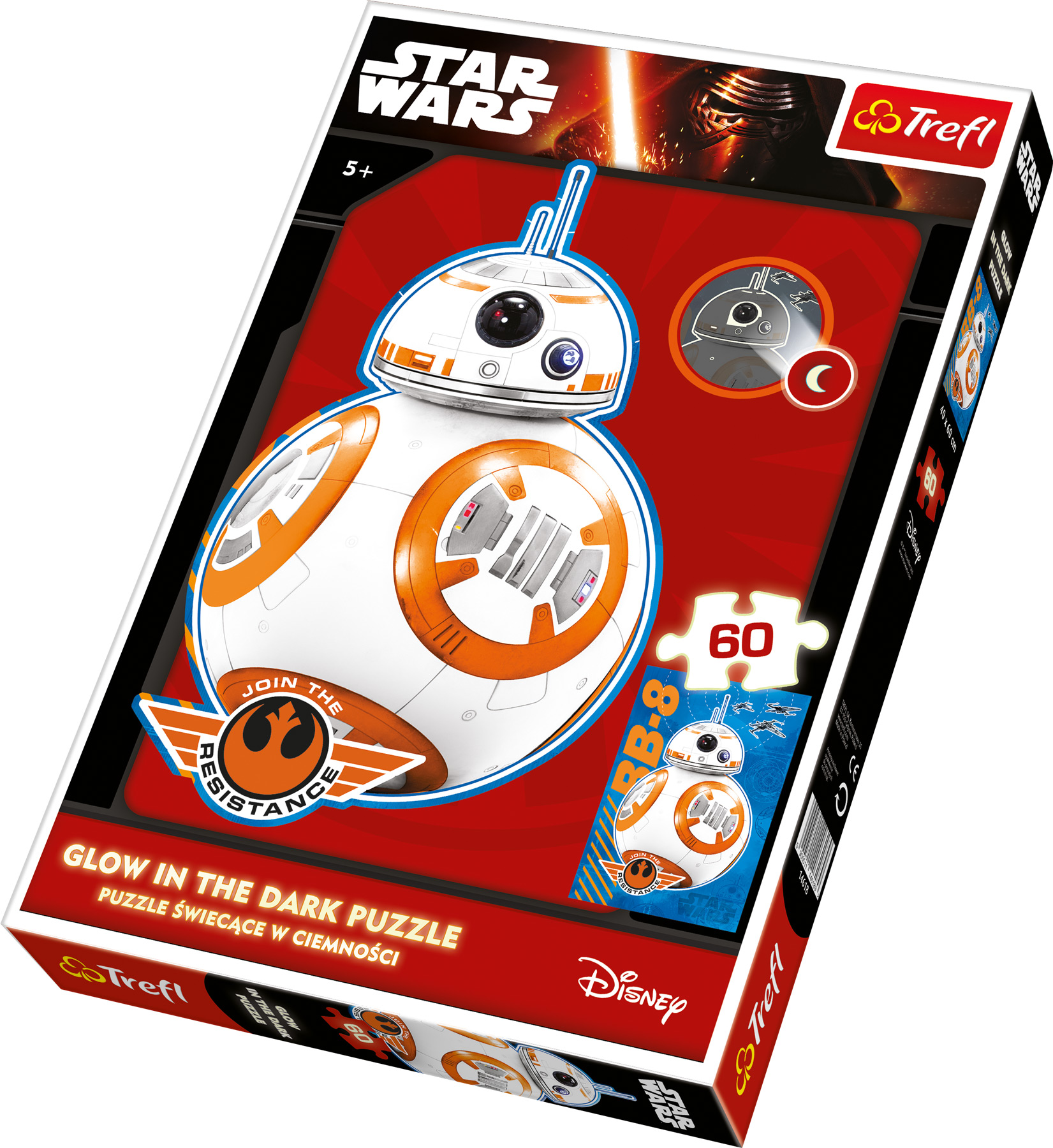 Small Foot Svietiace puzzle Star Wars Droid BB-8