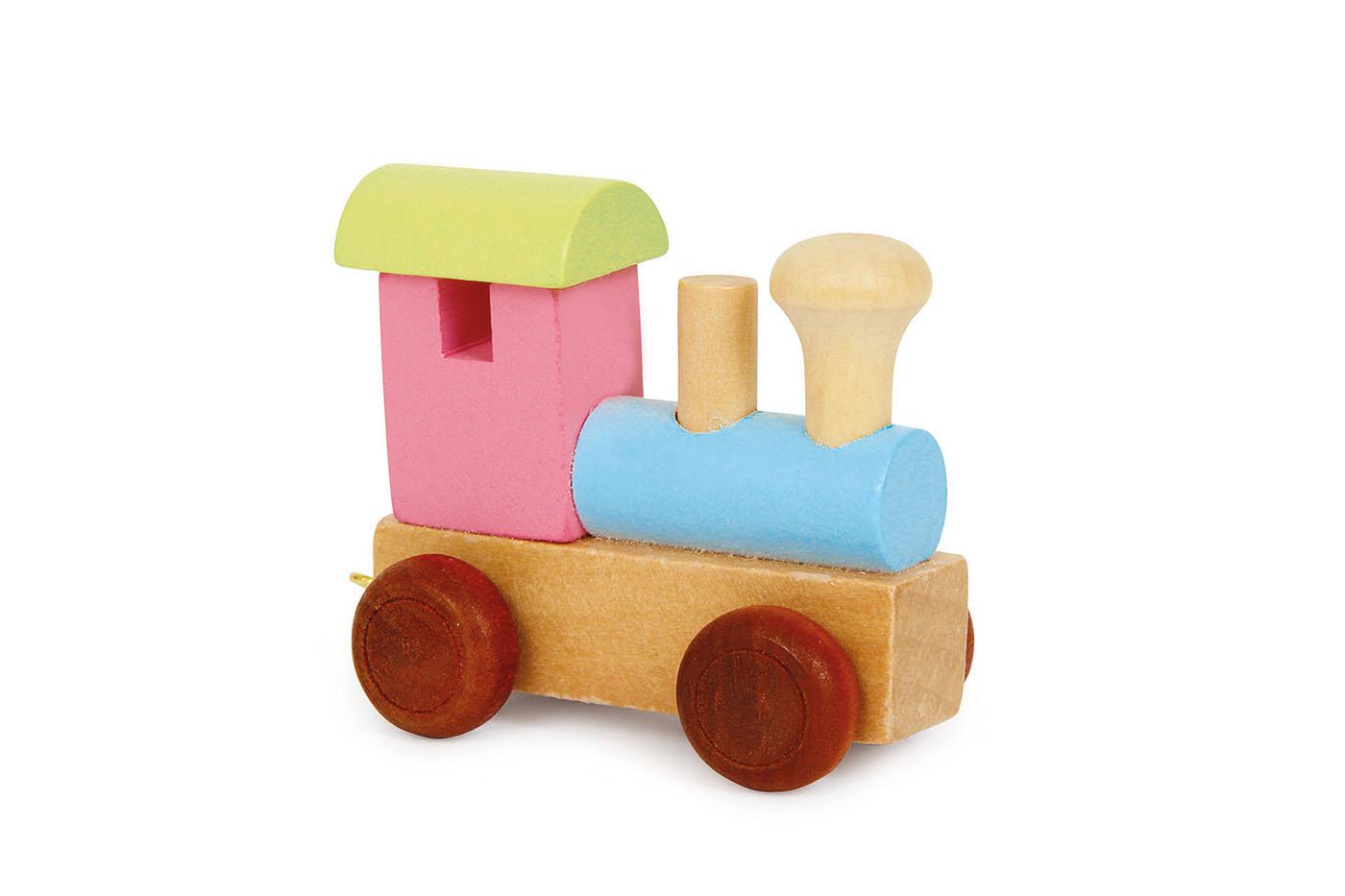 Písmenkový vláčik Farebná lokomotíva