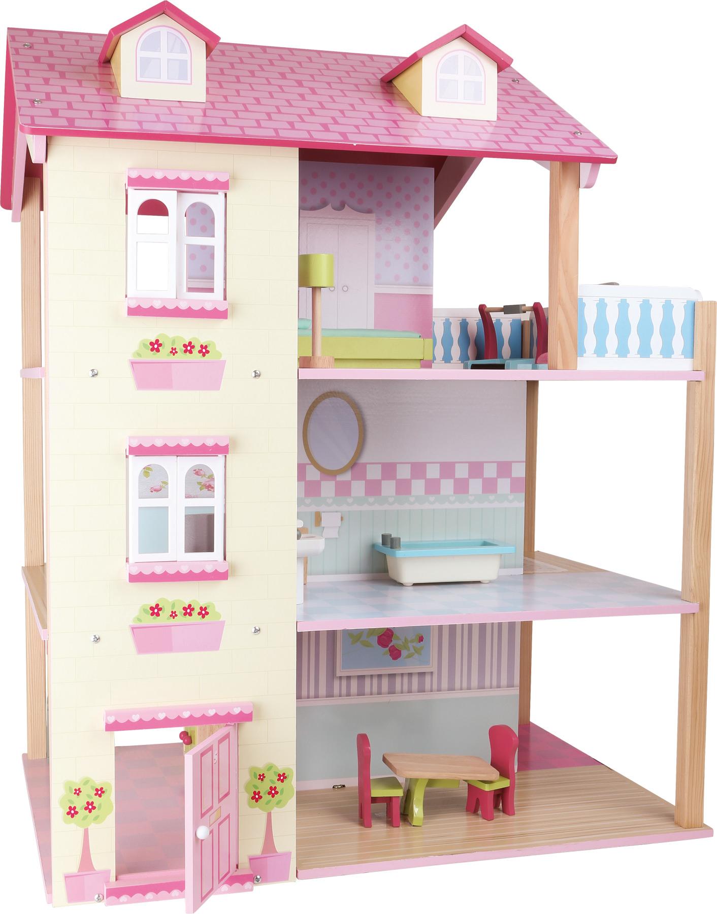 Small Foot Domček pre bábiky Ružová vila
