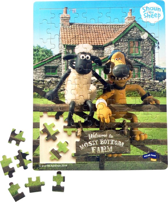 Small Foot Ovečka Shaun drevené puzzle