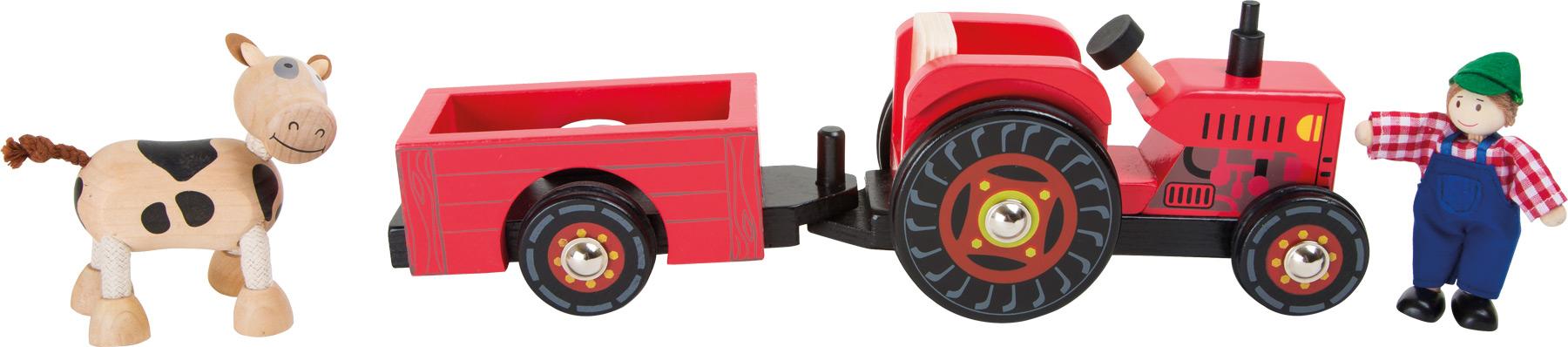 Small Foot Farmarský traktor s vlečkou