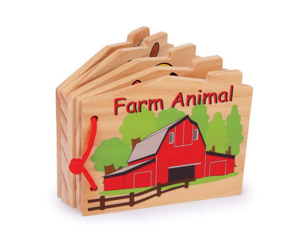 Small Foot Drevená knižka - zvieratká na farme
