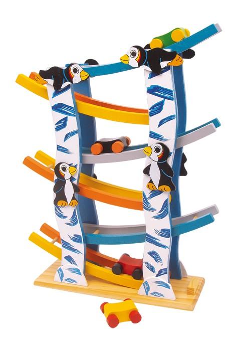 Small Foot Drevená dráha tučniaky