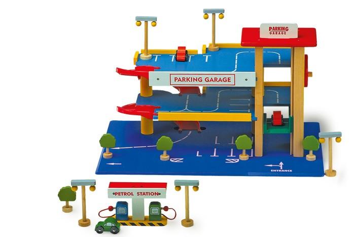 Small Foot Drevený parkovací dom