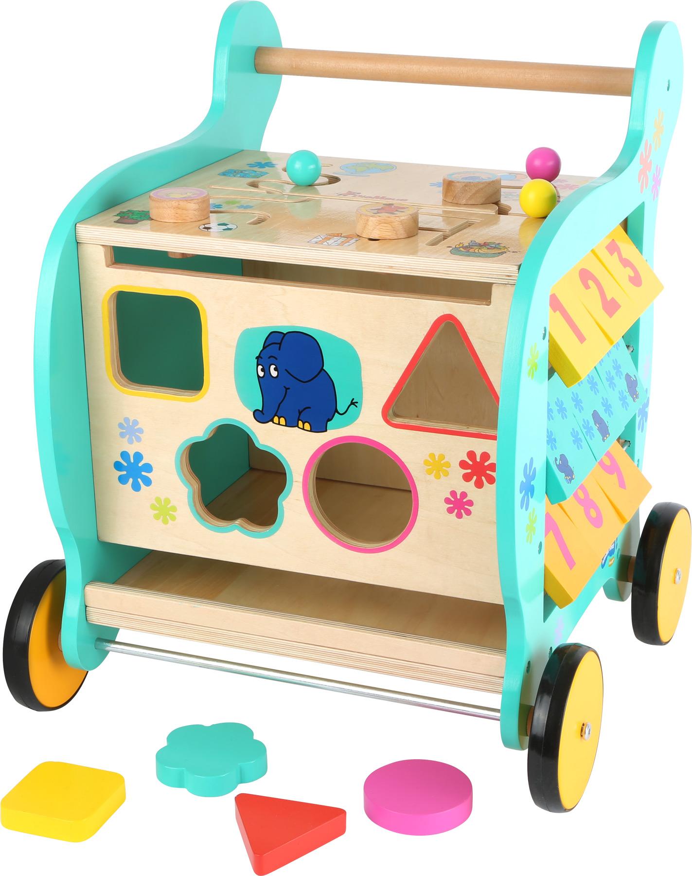 6e66c475f51df Motorické hračky | Small Foot Motorické chodítko so sloníkom